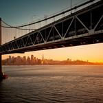 Bridge, sunset, san francisco