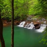 New river, new river gorge national river, west virginia, lower glade creek falls