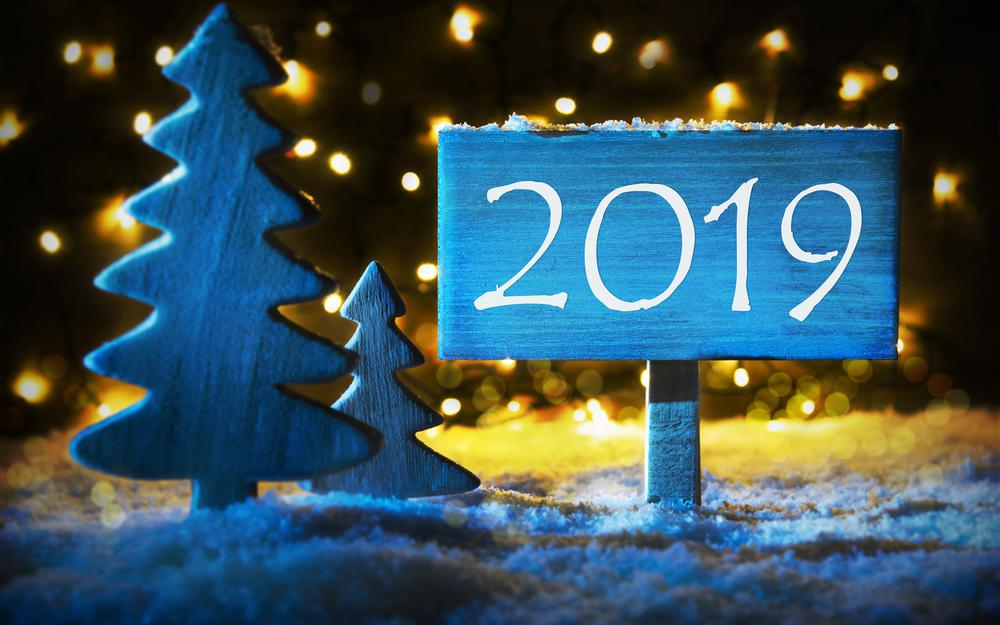 Background, snow, christmas, snowflakes, new year, 2019, winter, winter, decor, holiday, tree