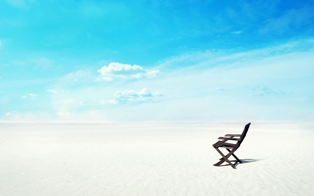 Beautiful, blue, colorful, desert, chair