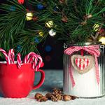 Cones, candy, mug, nuts, christmas, pine, can