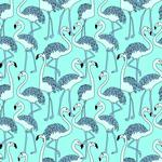 Art, flamingos, texture, patterns wallpaper