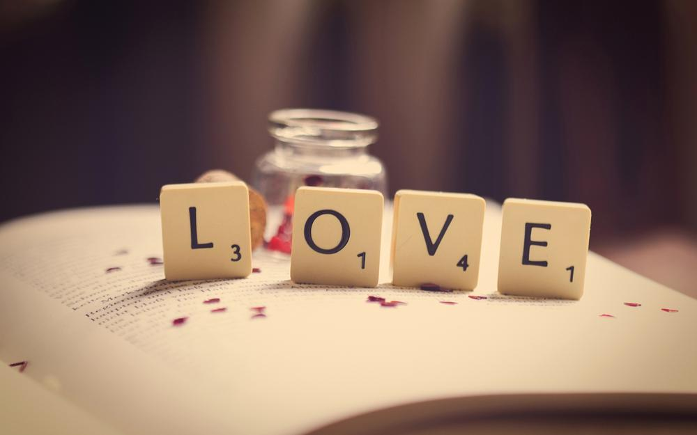 Book, macro, love, love, letters, pages, word, numbers