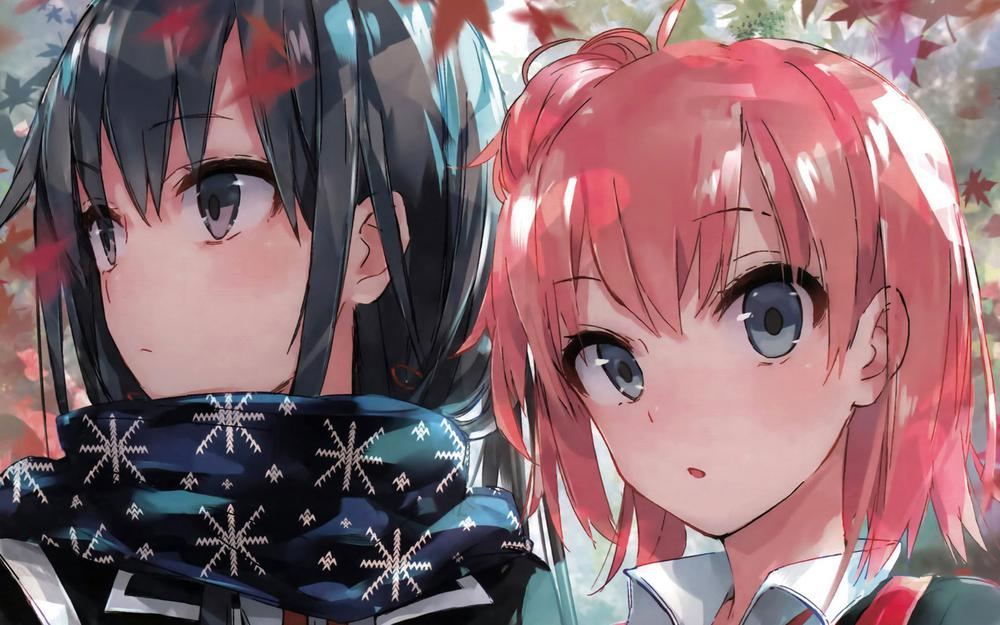Pictures of two people, girl, boy, couple, anime desktop wallpaper