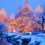 Winter snow scenery japan kenrokuen garden wallpaper