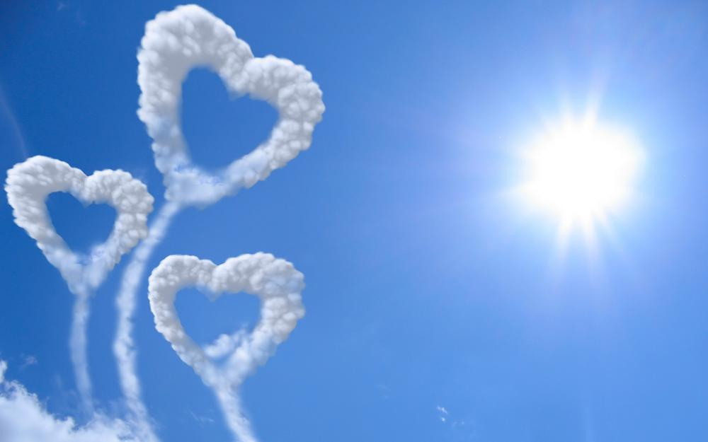 Hearts from clouds
