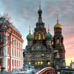 Church of the intercession on spilled blood in st. petersburg