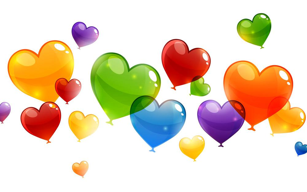Abstraction, heart, balloons, heart, lovers, valentine, saint