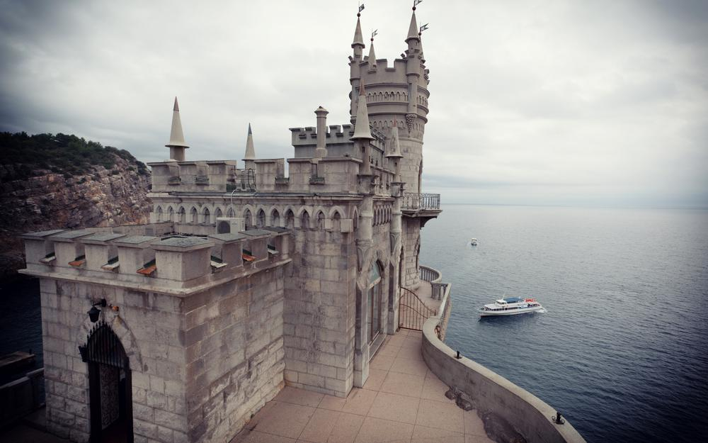 Swallow's nest, castle, castle swallows nest, cape, crimea, russia