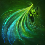 Creature, green, wings
