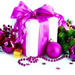 Box, gift, balls, decoration