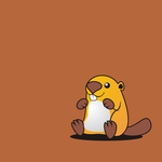 Cute, art, beaver wallpaper