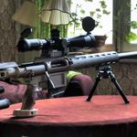 Sniper rifle, table, weapon