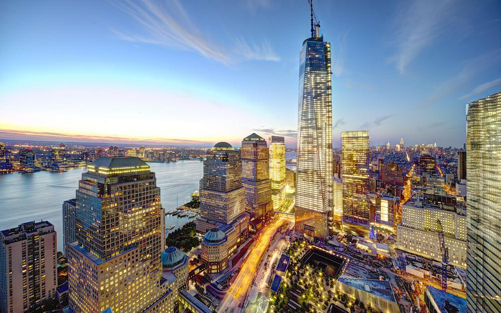 New york, city, ny, new york city, usa, the united states, home, skyscraper, nyc, wtc, freedom tower, skyscrapers, evening, world trade center, panorama, 1 world trade center, the building