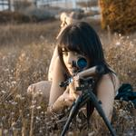Girl, sniper, weapon