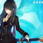 Katana, girl, personality, handsome, anime desktop wallpaper