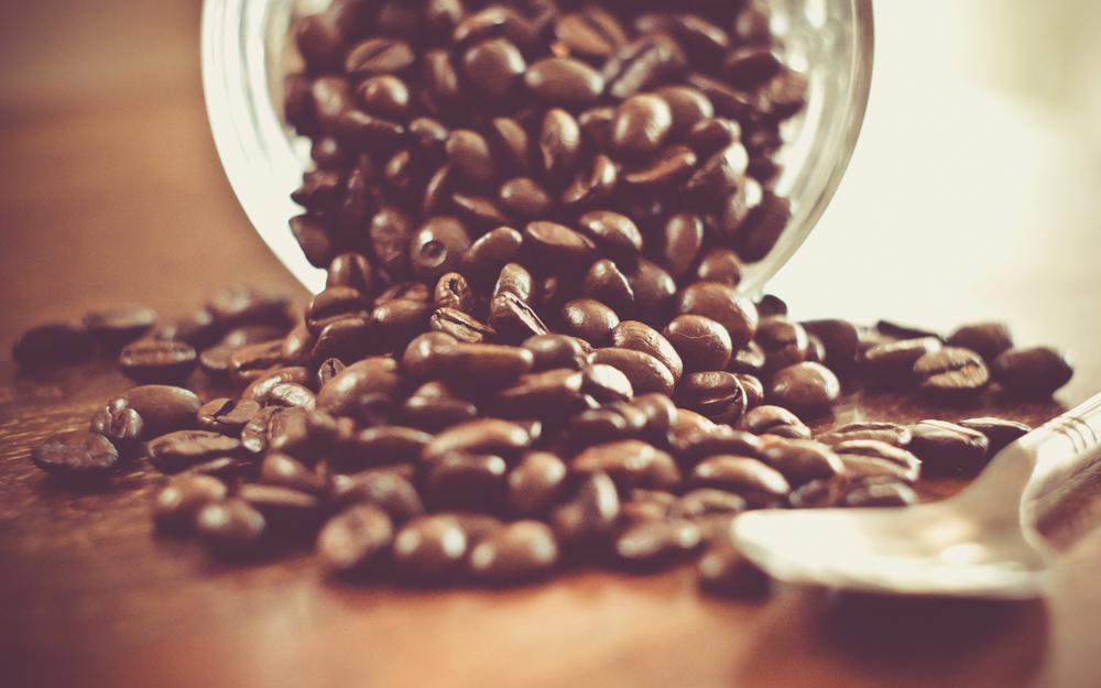 Scattered coffee hd wallpaper