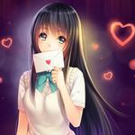 Girl, letter, love, beautiful anime desktop wallpaper