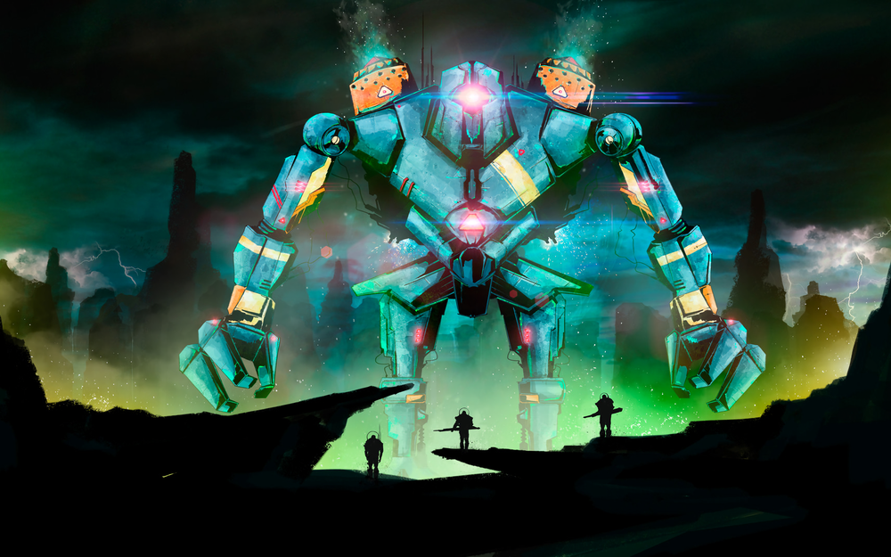 Robot, art, battle, warriors, fantasy wallpaper