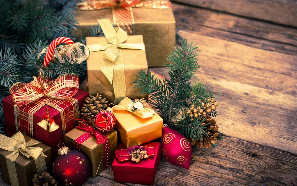 Gifts, christmas, gifts, decorations, bow, winter, boxes, tree