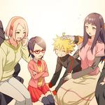 Anime, naruto, uzumaki, naruto, family photo, desktop wallpaper