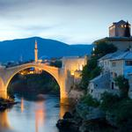 Mostar, ancient bridge, bosnia and herzegovina, sky, scenery desktop wallpaper