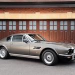 1972, aston martin, side view, v8, gray
