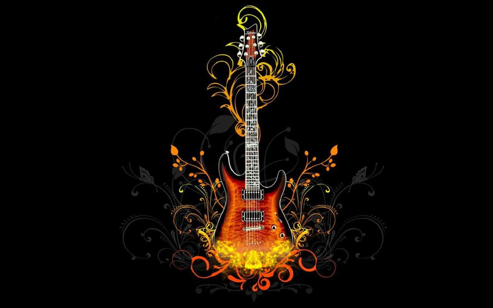 Guitar in abstraction (drawings about music)