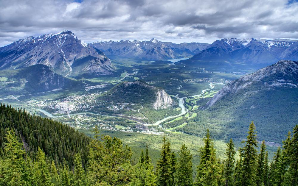 Valley, clouds, canada