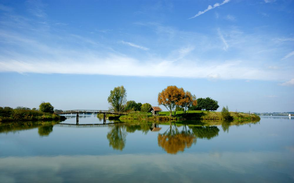 River, sky, photo, water, lake, wallpapers, trees