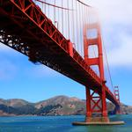Golden gate, golden gate, sky, prop, usa, bridge, san francisco, clouds, sea, mountains