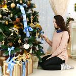 Tree, gifts, comfort, fireplace, garland, decorates