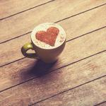 Cup heart cappuccino wallpaper
