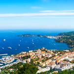Nice, france, coast, ocean, blue sky, sea landscape desktop wallpaper