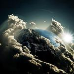Planet earth clouds