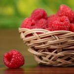 Raspberry, basket, berry wallpaper