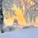 St. petersburg, winter, snow, fluffy, landscape desktop wallpaper