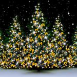 Winter, snow, christmas tree, sparkling, christmas, decoration, new year, merry christmas computer wallpaper