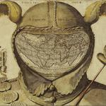 Antiquity, jester, engraving, map, drawing