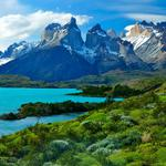 Patagonia, lake, mountain, sky landscape desktop wallpaper
