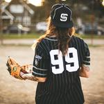 Baseball, glove, tattoos, tattoo, baseball cap, girl, uniform