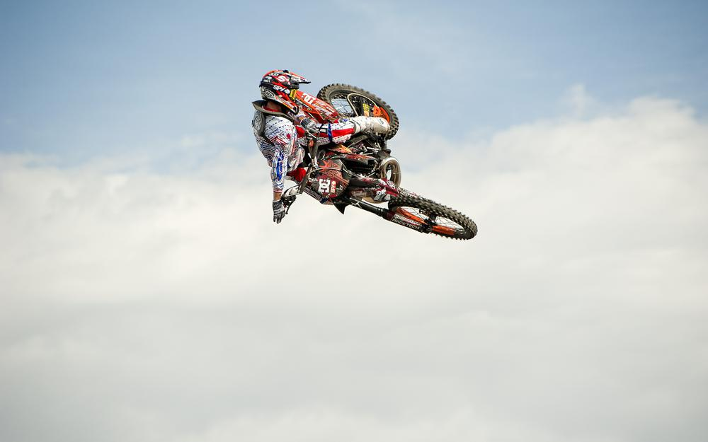 Flying a motorcycle