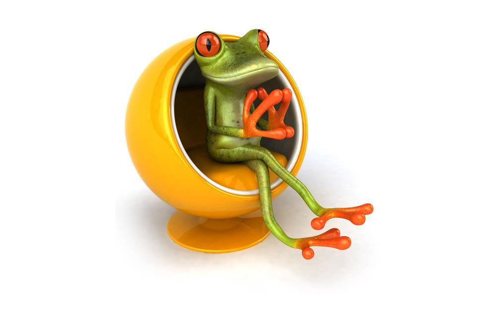 Frog, chair, free frog 3d