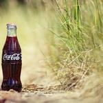 Cola, plants, grass, soda, coca-cola, coca-cola, drops, sand, bottle, drink