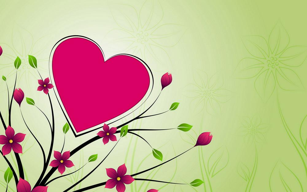 Branch, color, background, heart