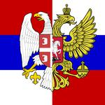 Serbia, russia, brotherhood, coat of arms, eagles, tricolor
