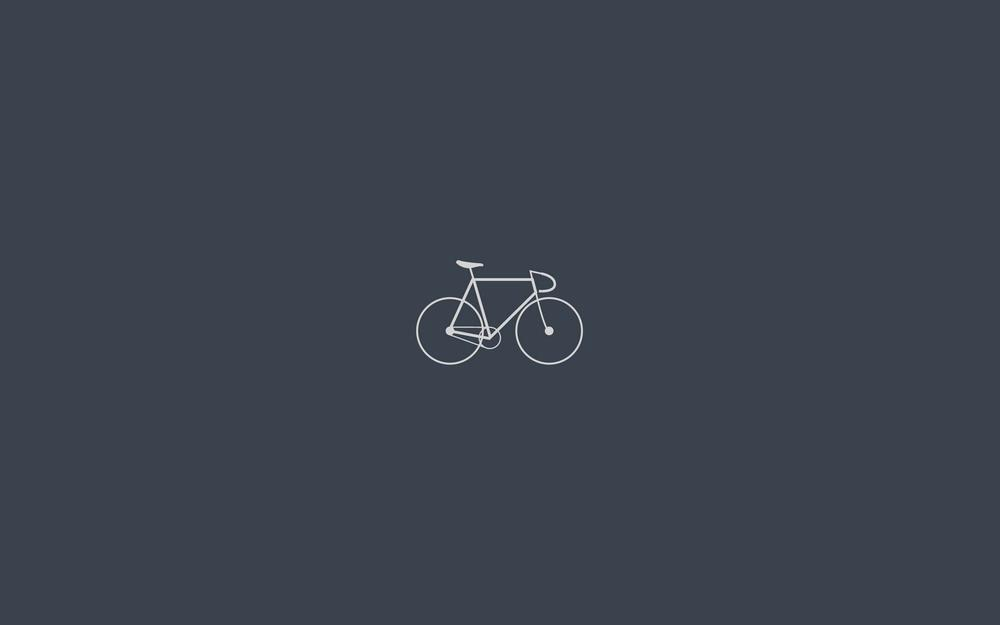 Bicycle, minimalism, gray