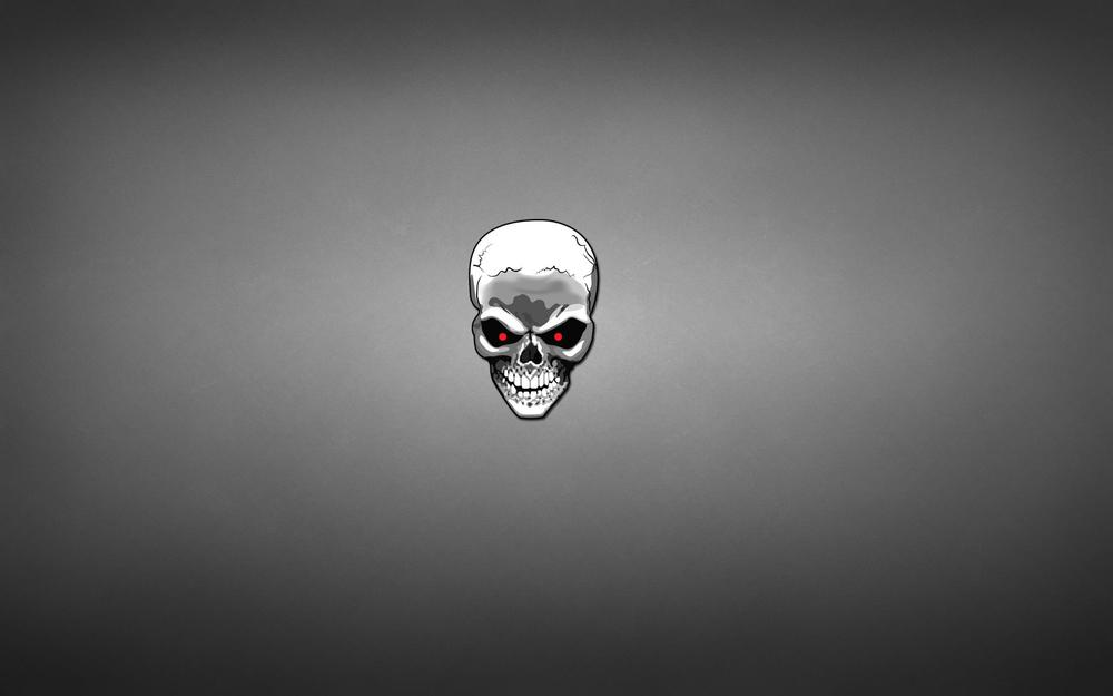 Minimalism, skull, art desktop background