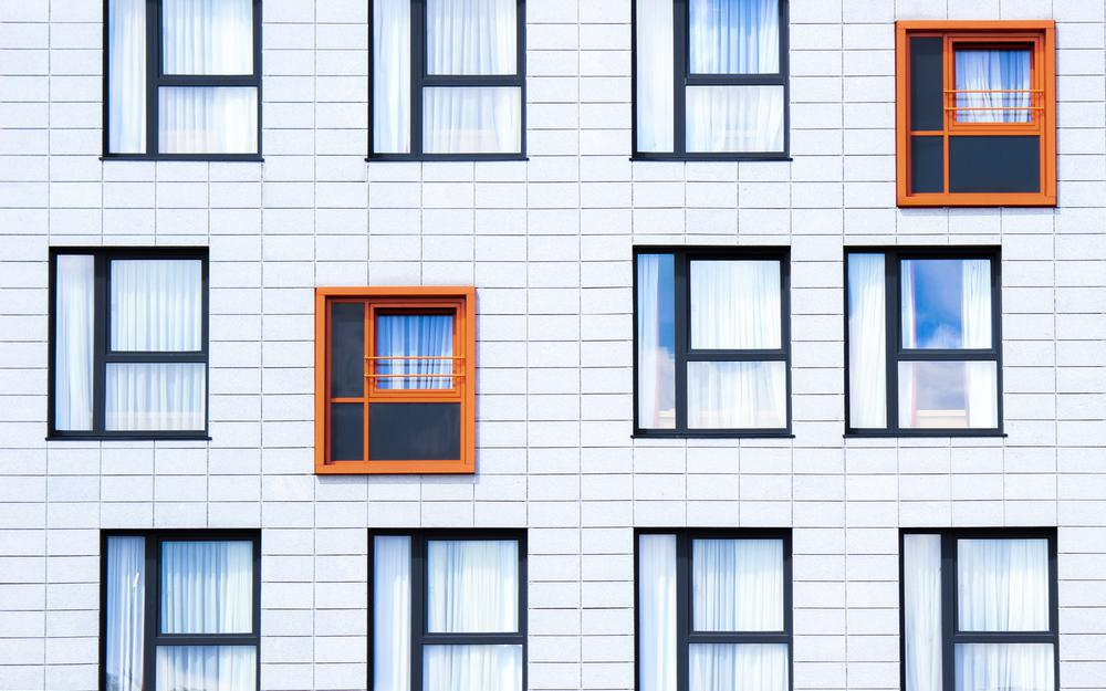 Building, facade, windows, minimalism hd wallpaper