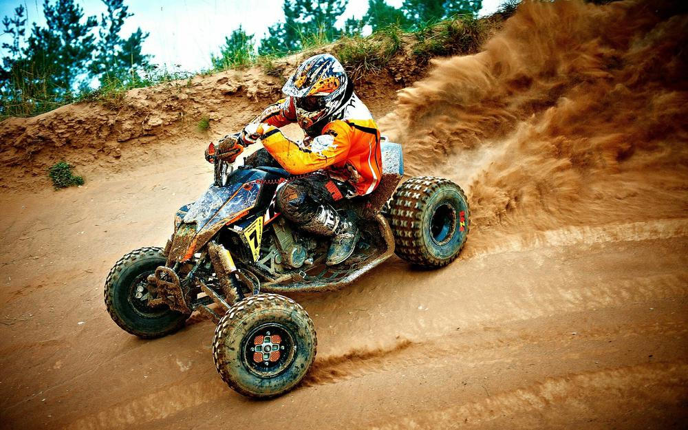 Atv, skid, race